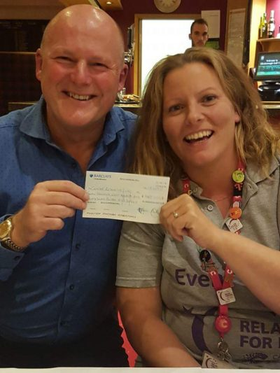 Presentation of cheque for £7887.30 to Relay for Life Aylesbury