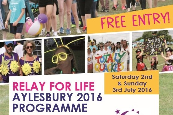 Relay for Life Aylesbury 2016 Programme - available now! 1